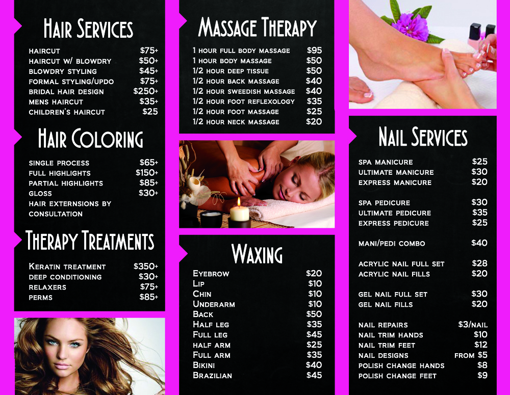 NailHair Salon Marketing Materials  LauraNagel