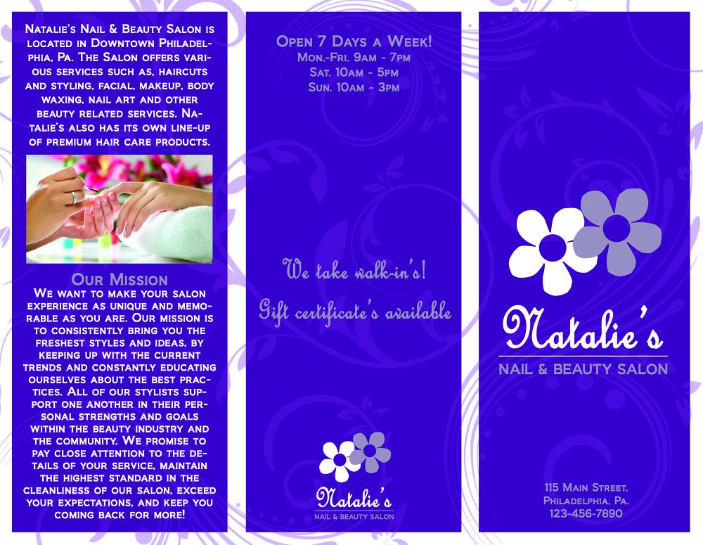 Nail Salon Brochure Templates
